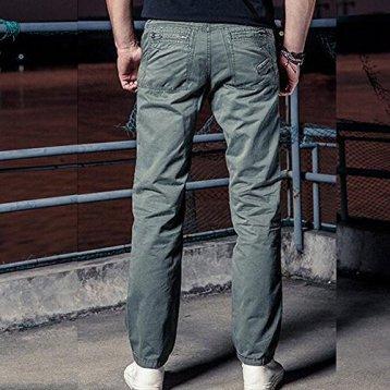 BOZEVON Ropa de trabajo para hombres Pantalones de carga Algodoacuten Relaxed Fit Workwear B076FNDT27_1